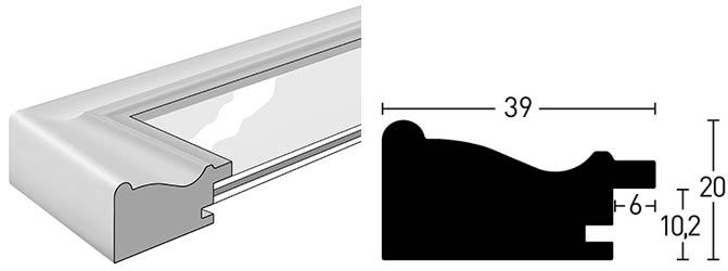 profil et coupe de la baguette du cadre Vintage