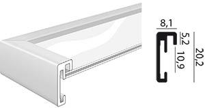 Profil et coupe baguette cadre Duo